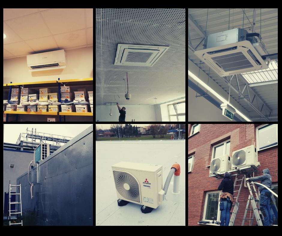 Klimatyzacja dobiura sklepu lokalu Piotrków Tryb. Trybunalski Łódź